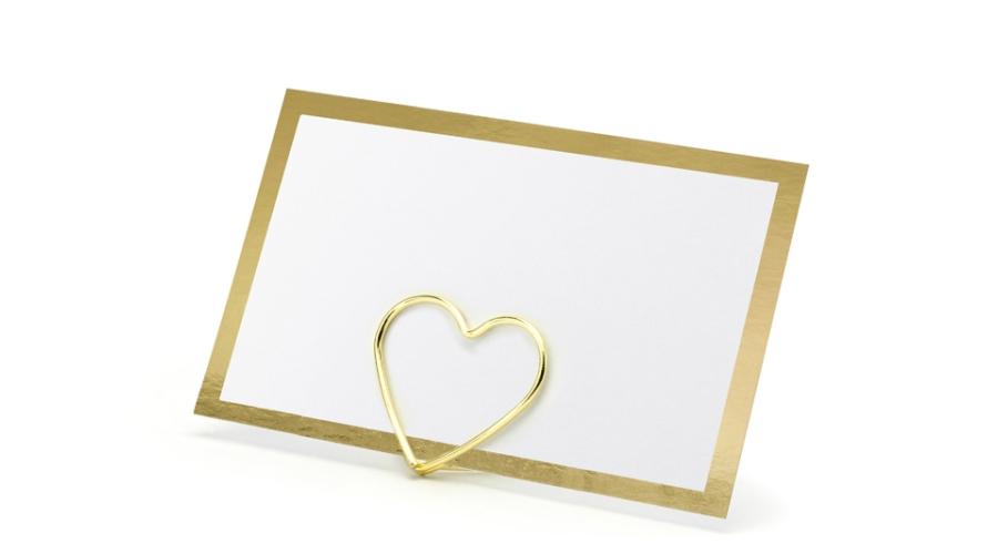ültetőkártya arany szívvel386